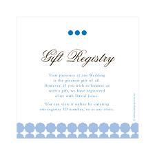wedding gift registration wording for wedding gift registry