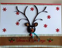 quilling away quilled christmas cards 3d quilled reindeer