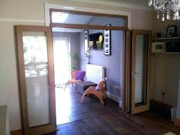 Folding Room Divider Doors Folding Room Doors Fully Open Wrapped Against The Wall View Of The