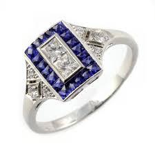 sheldon bloomfield platinum sapphire u0026 diamond rectangular art