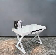 white gloss computer desk a11 office desk in white gloss j u0026m furniture modern manhattan