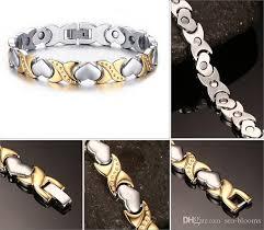 steel stainless magnetic bracelet stainless images 2018 health energy magnetic bracelets heart x women stainless jpg