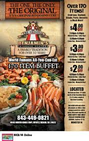 Seafood Buffets In North Myrtle Beach by Original Benjamin U0027s Seafood Buffet Coupon Myrtlebeachresorts Com