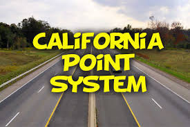 how does california point system work california dmv practice test