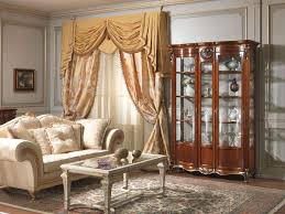 living room with glass showcase louis xv vimercati furniture
