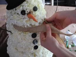 make carnation snowman centerpiece easy crafts homemade dma