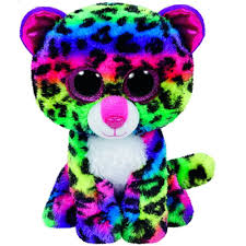 shop pyoopeo ty beanie boos dotty multicolor leopard 6inch