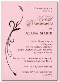 communion invitations for girl flourish on pink girl christening invitations baptism invitations