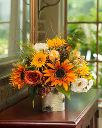 thanksgiving day silk floral designs centerpieces at petals