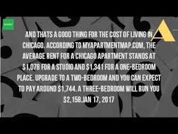 average rent for one bedroom apartment in chicago how much does it cost to rent an apartment in chicago youtube
