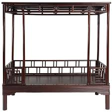 antique canopy bed antique 19th century chinese ju mu six post canopy bed chinoserie