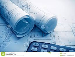 architectural blueprints rolls royalty free stock image image