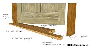 Building An Exterior Door Frame My Shop Entry Door Thisiscarpentry