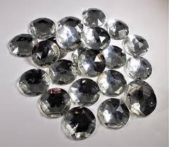 clear gemstones 25mm vintage clear flat back acrylic gemstones