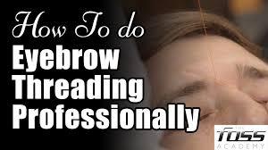 How To Do Eyebrow How To Do Eyebrow Threading Professionally Youtube