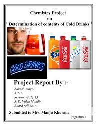 cbse xii chemistry project determination of the contents of cold