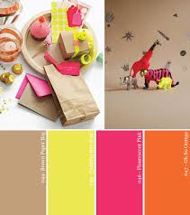 Pink Color Scheme Hue It Yourself Neon And Kraft Paper Party Color Palette Google
