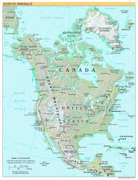 Future Map Of North America by Free World Maps Regional Maps Physical Maps