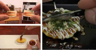 cuisine miniature the of miniature japanese meals being prepared spoon
