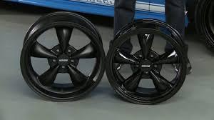 Mustang Black Chrome Wheels Mustang Bullitt Deep Dish Wheels Solid Black And Solid Matte