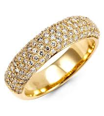 gold diamond band new 14k yellow gold 0 78ct diamond band ring rings