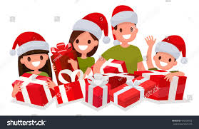 Decoration Of Christmas by Happy Family New Year Gifts Element Stock Vector 495550072