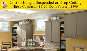 cost to hang a suspended or drop ceiling youtube