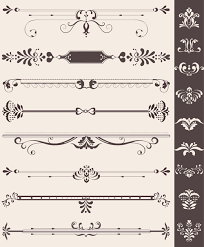 creative vintage ornaments with borders vector vector frames