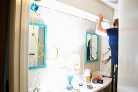 seesaws and sawhorses master bathroom lights