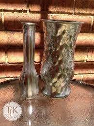 Florist Vases Pinterest Inspired Craft U2013 Green Looking Glass Vases