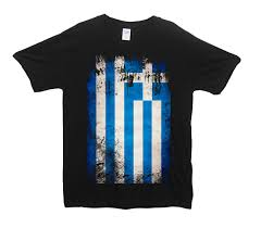 Greece Flag Colors Sideways Greece Flag Design T Shirt