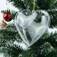 20pcs clear plastic acrylic shape fillable tree