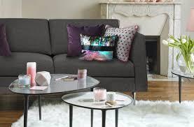 coussins design pour canape gros coussin rectangulaire 40x50 en velours à motifs gris imprimes