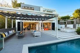 Swimming Pool Canopy by Infinity Canopy Introduces Modular Outdoor Shade Systems Pool