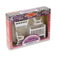 dollhouse furniture toys melissa doug classic wooden dollhouse nursery furniture set piece