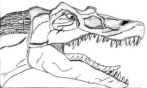 spinosaurus coloring page and pages itgod me