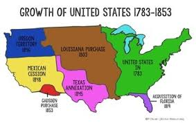 map us expansion american expansion 18181853 map united states mappery fta