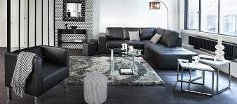 idee deco salon canape noir awesome salon moderne but images amazing house design