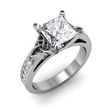 celtic engagement rings celtic knot design pave diamonds engagement ring