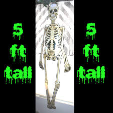 Halloween Posable Skeleton Life Size Skeleton Bones Halloween Party Wall Door Decorations