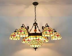 tiffany style ceiling fan glass shades lighting astonishing tiffany style ceiling light fixture pendant