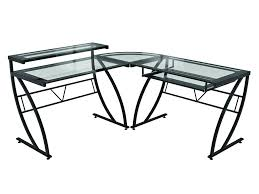 L Shaped Black Glass Desk Desks Z Line Designs Inc
