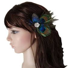 feather hair clip unique design of peacock feather hair accessories for