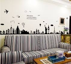 wall sticker picture more detailed picture about fashion eiffel fashion eiffel tower sydney greek city building set diy wall stickers living room background decor mural