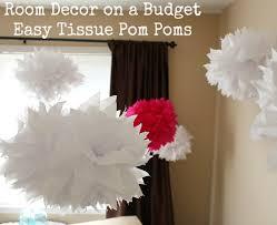 Easy Room Decor Room Decor On A Budget Easy Tissue Pom Poms One Hundred Dollars