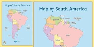 of south america map south america continent countries