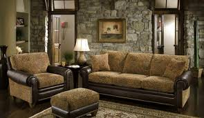 living room alluring rustic family with red leather pictures