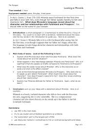 ks3 the tempest act 1 teachit english