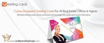 real estate greeting card printing design and printing