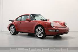 turbo porsche red 1991 porsche 964 turbo coral red 50 174 miles sloan cars